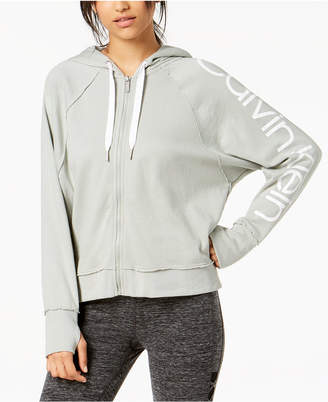 Calvin Klein Logo Relaxed Zip Hoodie