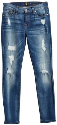 7 For All Mankind Ankle Skinny Distressed Jeans