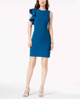Julia Jordan Ruffled Sheath Dress