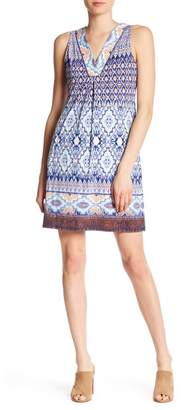 Hale Bob V-Neck Print Dress
