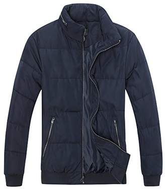 The Plus Project Men's Plus Size Quilted Jacket with Hidden Hood 4X-Large