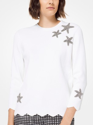 Michael Kors Embellished Cotton Pullover