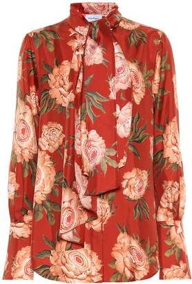 Salvatore Ferragamo Floral silk blouse