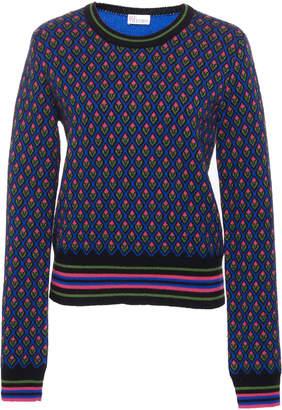RED Valentino Intarsia-Knit Wool Sweater