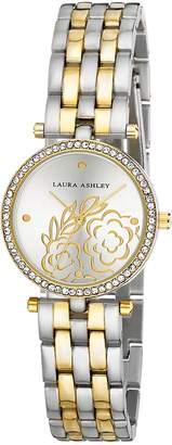 Laura Ashley Women's ' Quartz Metal and Alloy Casual Watch, Color:Gold-Toned (Model: LA31021TTG)