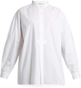 Mes Demoiselles Kamisa stand-collar cotton-voile shirt