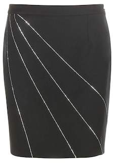 Saint Laurent Embellished wool skirt