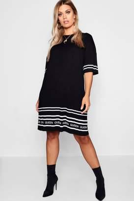 boohoo Plus Queen Printed Tshirt Dress