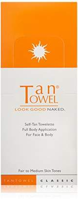 TanTowel Tan Towel Self Tan Towelette Fair to Medium Skin Tone -Each .50 oz (pack of 50 towelettes)