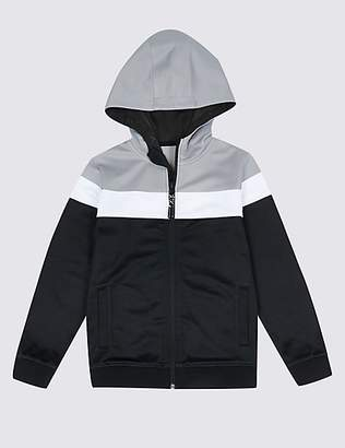 Marks and Spencer Cotton Rich Zipped Sweatshirt (3-16 Years)