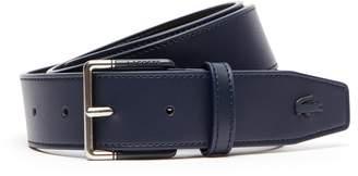 Lacoste Men's Engraved Tongue Buckle Leather Belt