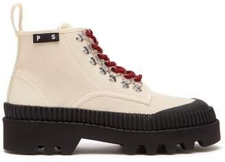Proenza Schouler Canvas Ankle Boots - Womens - Black Cream