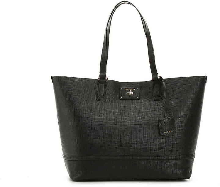 Cole Haan  Women's Jozie Leather Tote -Black