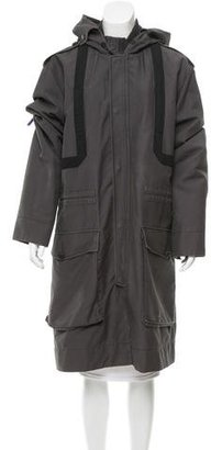 Marc by Marc Jacobs Hooded Long Coat $270 thestylecure.com