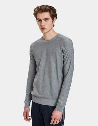 Wings + Horns Wings+Horns Knit Cashmere Crewneck in Heather Grey