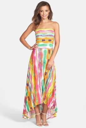 Felicity & Coco Strapless Neon Print Maxi Dress (Nordstrom Exclusive)