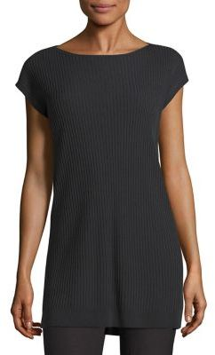 Eileen Fisher Sleek Rib Tunic $248 thestylecure.com
