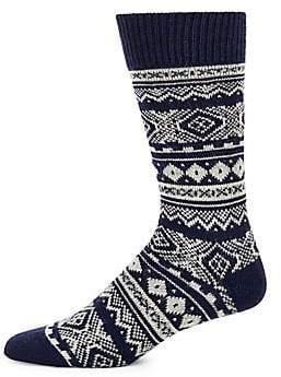 Barbour Men's Fair Isle Patterned Socks