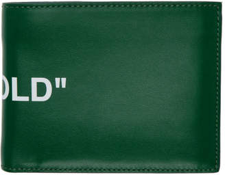 Off-White Green Quote Bifold Wallet