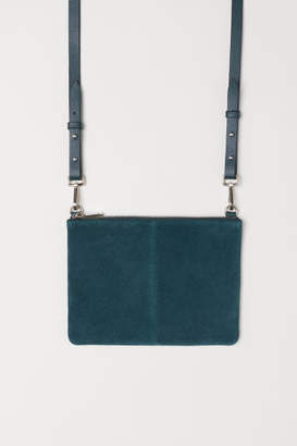 H&M Small Bag with Suede Details - Turquoise