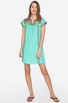 Johnny Was Vella V-Neck Mexican Tunic Dress