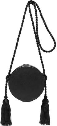 Hillier Bartley - Tasseled Collarbox Leather Shoulder Bag - Black
