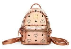 MCM Mini Stark Coated Canvas Backpack