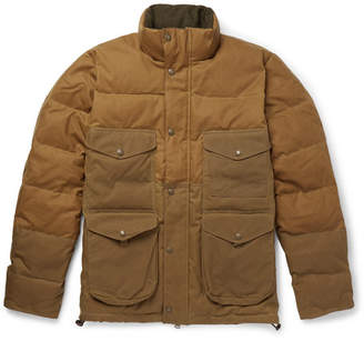Filson Cruiser Quilted Cotton-Canvas Down Jacket