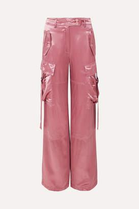 Sies Marjan Sammie Satin Wide-leg Pants - Antique rose