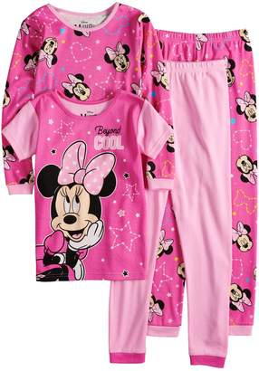 Disney Disney's Minnie Mouse Girls 4-8 Top & Bottoms Pajama Set