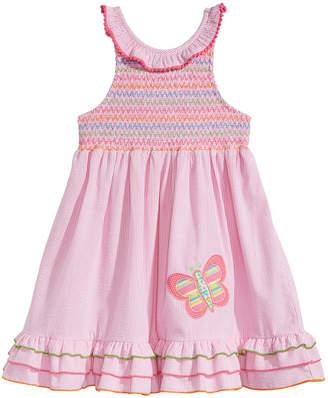 Good Lad Embroidered Smocked Dress, Little Girls