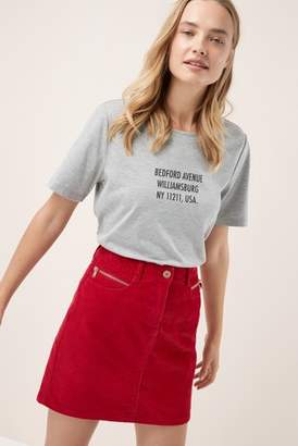Next Womens Red Cord Mini Skirt