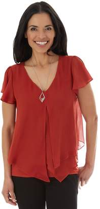 Apt. 9 Women's Asymmetrical Layered Popover & Necklace Set