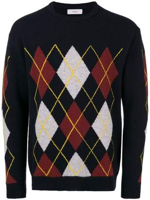 Pringle diamond pattern jumper