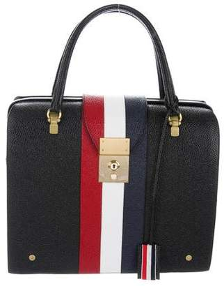 Thom Browne Pebble Leather Satchel