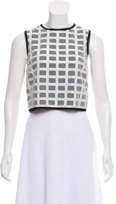 Intermix Mesh Accented Crop Top