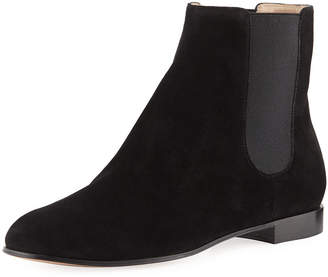 Gianvito Rossi Gored Suede Ankle Bootie