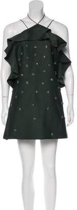 C/Meo Collective Off-The-Shoulder Embellished Dress