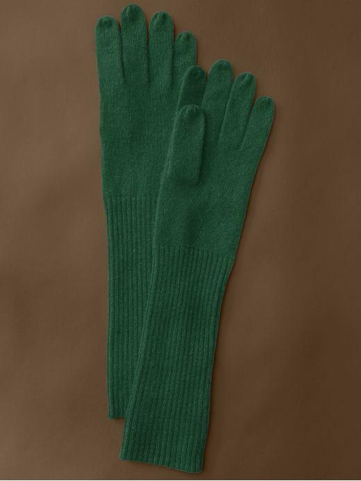 Banana Republic Long cashmere gloves - Black