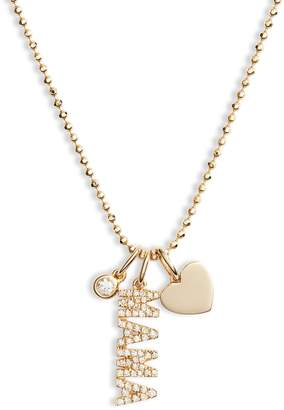 Ef Collection Diamond Mama Charm Necklace