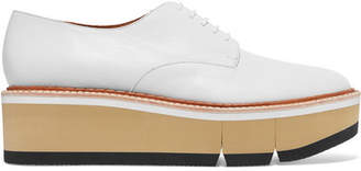 Clergerie - Barbara Leather Platform Brogues - White