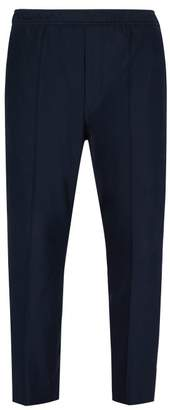 Gucci Logo Intarsia Cotton Twill Track Pants - Mens - Navy