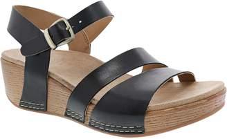 Dansko Women's Adjustable Ankle Strap Wedge Sandals - Lindsay