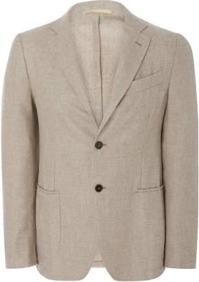 EIDOS Hopsack Wool Two-Button Blazer