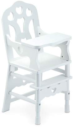 Melissa & Doug Wooden Doll High Chair - Ages 3+