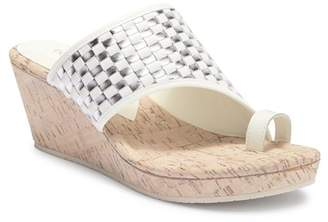 Donald J Pliner Gyers Loop Toe Wedge Sandal