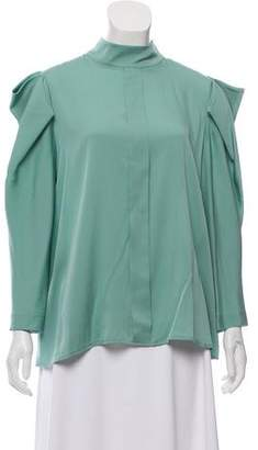 Dice Kayek Silk Mock Neck Blouse w/ Tags