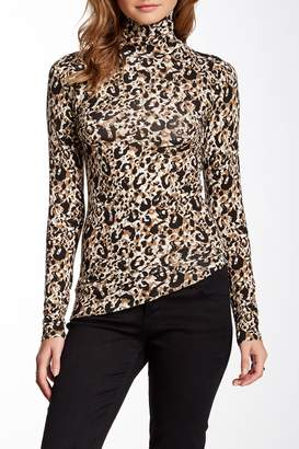 Loveappella Cheetah Print Knit Turtleneck