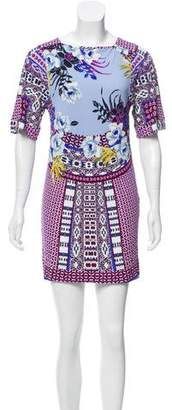 Etro Printed Short Sleeve Dress