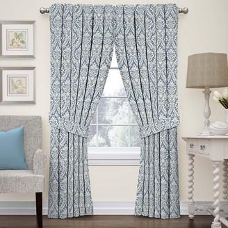 Waverly 1-Panel Donnington Damask Window Curtain